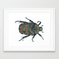 beetle Framed Art Prints featuring Beetle by MSRomeiro