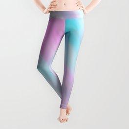 Artsy Pink Teal Watercolor Brushstrokes Leggings