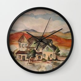 Poppy Fields Ranch Wall Clock