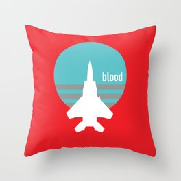 BLOOD Throw Pillow