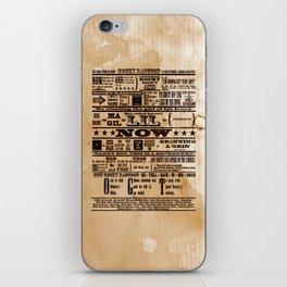 Rocky Raccoon iPhone Skin