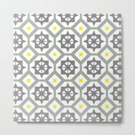 Carina - grey yellow Metal Print
