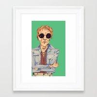 hippie Framed Art Prints featuring hippie  by Lorelei Diener
