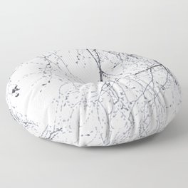BLACK BRANCHES Floor Pillow