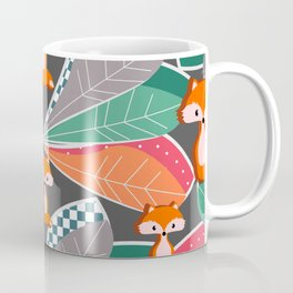 Summer fun with foxes and leaves Coffee Mug