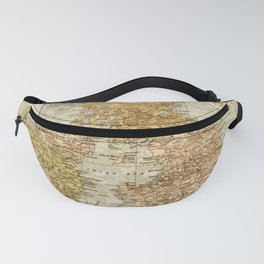 Vintage Map of Great Britain and Ireland, 1947 Fanny Pack