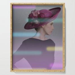 la femme au chapeau 2 Serving Tray