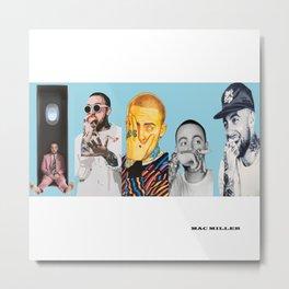 Mac Miller Album History Poster, Hip Hop Poster, Music Posters Metal Print