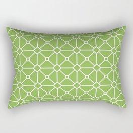 Fresh Green Tile Pattern Rectangular Pillow