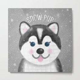 Snow Pup Metal Print
