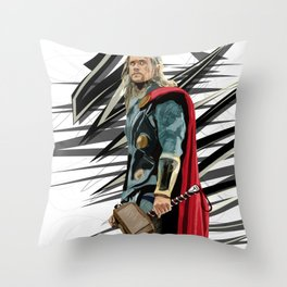 God of Thunder Throw Pillow
