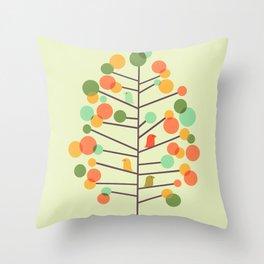 Happy Tree - Tweet Tweet Throw Pillow