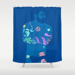 The artist - neon light Shower Curtain