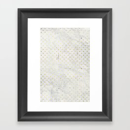 gOld pOis Framed Art Print