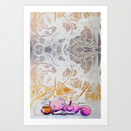 Skribbles: Coffee + Dreams Art Print