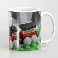 train Mugs featuring Train by Pedro Nogueira