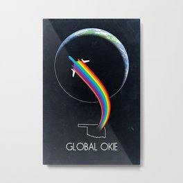 Global Okie 'Planetary Journey' Metal Print