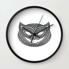Halloween Cat Wall Clock