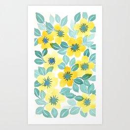 Sunny Blooms Art Print