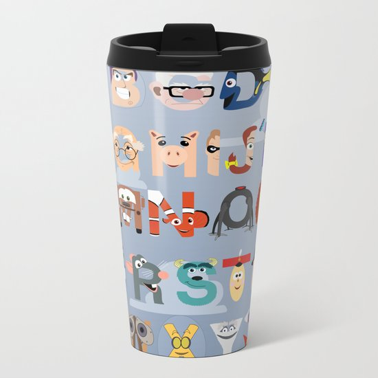 P is for Pixar (Pixar Alphabet) Metal Travel Mug