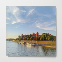 Magical Wawel Castle in Krakow - view from the bridge Metal Print