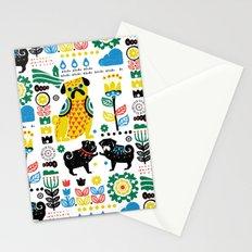 Scandinavian Pugs Stationery Cards