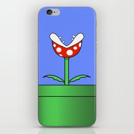 Minimalist Piranha Plant iPhone Skin
