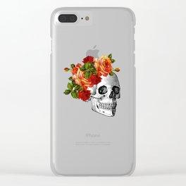 Dia De Los Muertos Sugar Skull Clear iPhone Case