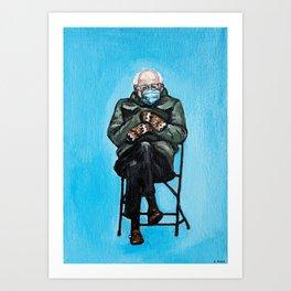 Bernie Mittens Art Print