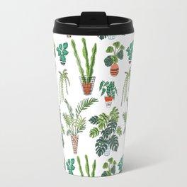flowerpots pattern Travel Mug