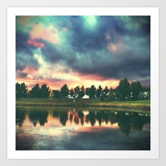 skies. Art Print