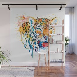 Jaguar Head Portrait Wall Mural