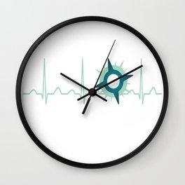 Immunologist Heartbeat Wall Clock