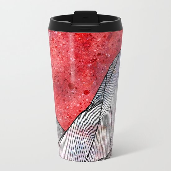 As the sky turned red Metal Travel Mug