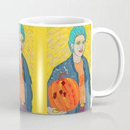 Todd Holding A Pumpkin Coffee Mug