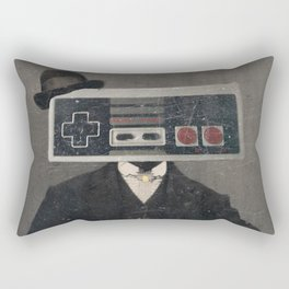 Faces of the Past: Controller Rectangular Pillow