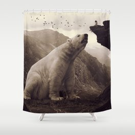 tutelary Shower Curtain