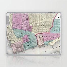Vintage Map of Jersey City, Hoboken & Weehawken NJ Laptop & iPad Skin