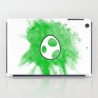 yoshi iPad Cases featuring Yoshi Egg by Bradley Bailey
