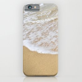 Beautiful wave surfing on a sandy beach iPhone Case