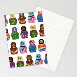 Matryoshka Women Stationery Cards