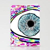 iris Stationery Cards featuring Iris by Beyond Infinite