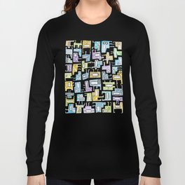 Pastel Tetris Monsters Long Sleeve T-shirt