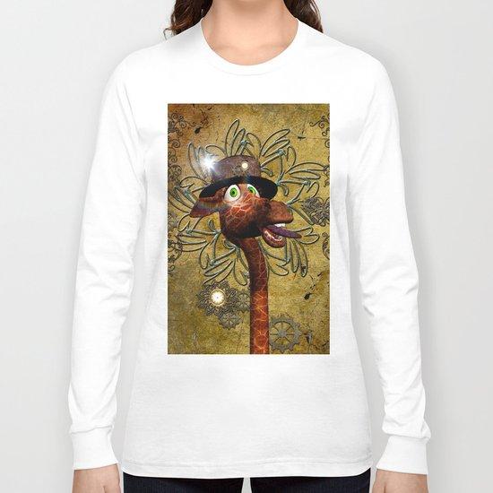 Steampunk, giraffe Long Sleeve T-shirt