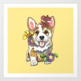 Corgi Cutie Art Print