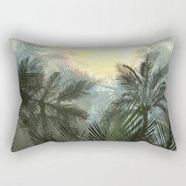 Jungle pampa forest. Tropical green forest with palms Rectangular Pillow