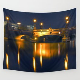 BERLIN NIGHT on the RIVER SPREE Wall Tapestry