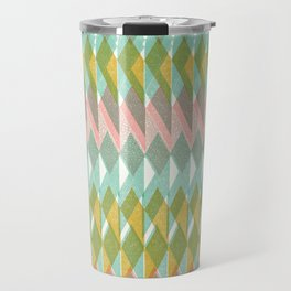 Shard Hand-Print Geometric - Meadow Travel Mug