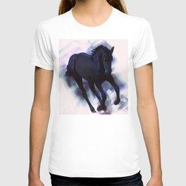 A Friesian foal's morning joy T-shirt