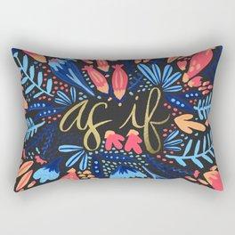 As If – Pink & Black Rectangular Pillow